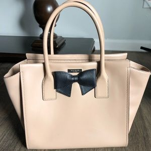 Cream kate spade Smooth Cow Hide Leather Purse